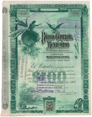 Meksyk, Banco Central Mexicano, 1905