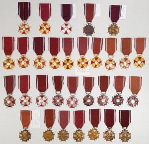Krzyż Zasługi RPL-RP - zestaw (31szt)