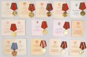ZSRR zestaw Medali z Legitymacjami
