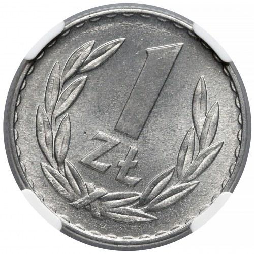 1 złoty 1957 - skrętka - NGC MS65