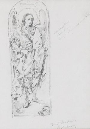 Stanisław WYSPIAŃSKI (1869-1907) - przypisywany, Anioł - szkic