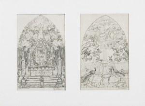 Józef MEHOFFER (1869-1946), Projekt ołtarza Matki Boskiej i dekoracji ściennej