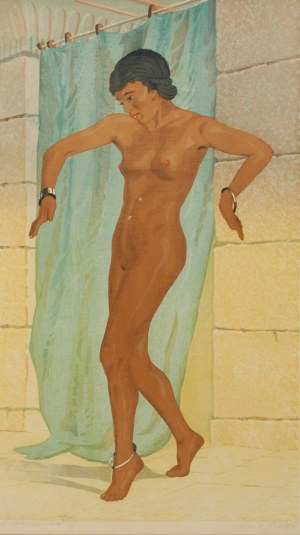Aleksander LASZENKO (1883-1944), Kobieta wychodząca z kąpieli [Taniec brzucha], 1936