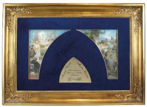 Henryk SIEMIRADZKI (1843-1902), Panneau dekoracyjne do Filharmonii Narodowej w Warszawie: Musica Sacra i Musica Profana - studia kolorystyczne, 1901
