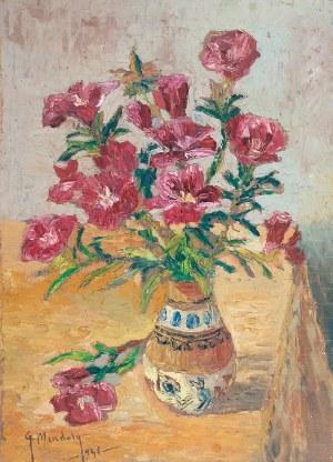 Grzegorz MENDOLY (1898-1966), Kwiaty w wazonie [Goździki], 1946