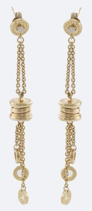 Kolczyki złote BVLGARI