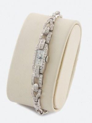 Zegarek damski art deco, z bransoletką
