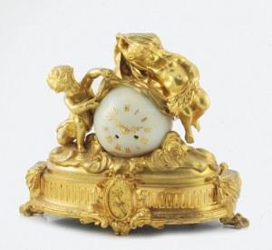 Firma zegarmistrzowska HONORE PONS (czynna od pocz. XIX w.), Zegar kominkowy z alegorią Dnia i Nocy