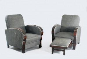 Para foteli w stylu art deco