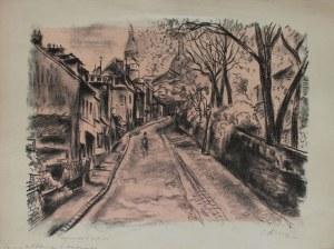 Michel Adlen (1898-1980), Rue de l'Abreuvoir a Montmartre