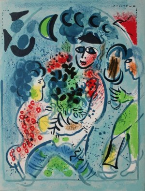 Marc Chagall (1887-1985), Frontispis. Para (Chagall Lithographe III, 1969, Mourlot #578)