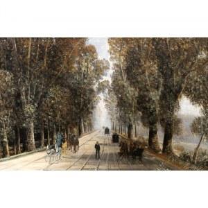 A. Jost Joseph Nikolaus Schiffmann (1822 Lucerna - 1883 Monachium), Aleja na Praterze we Wiedniu