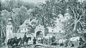 Juliusz KOSSAK (1824-1899), Przed monasterem Ojców Bazylianów, [1875]