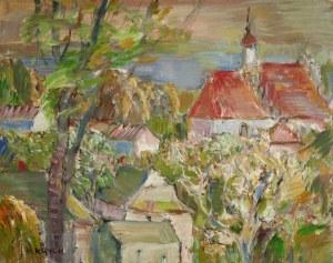 Henryk Krych (1905-1980), Pejzaż z kościółkiem
