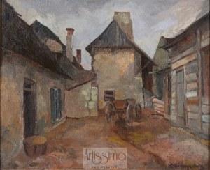 Henryk Rabinowicz (ok. 1900–1942), Podwórze w Kazimierzu, 1929