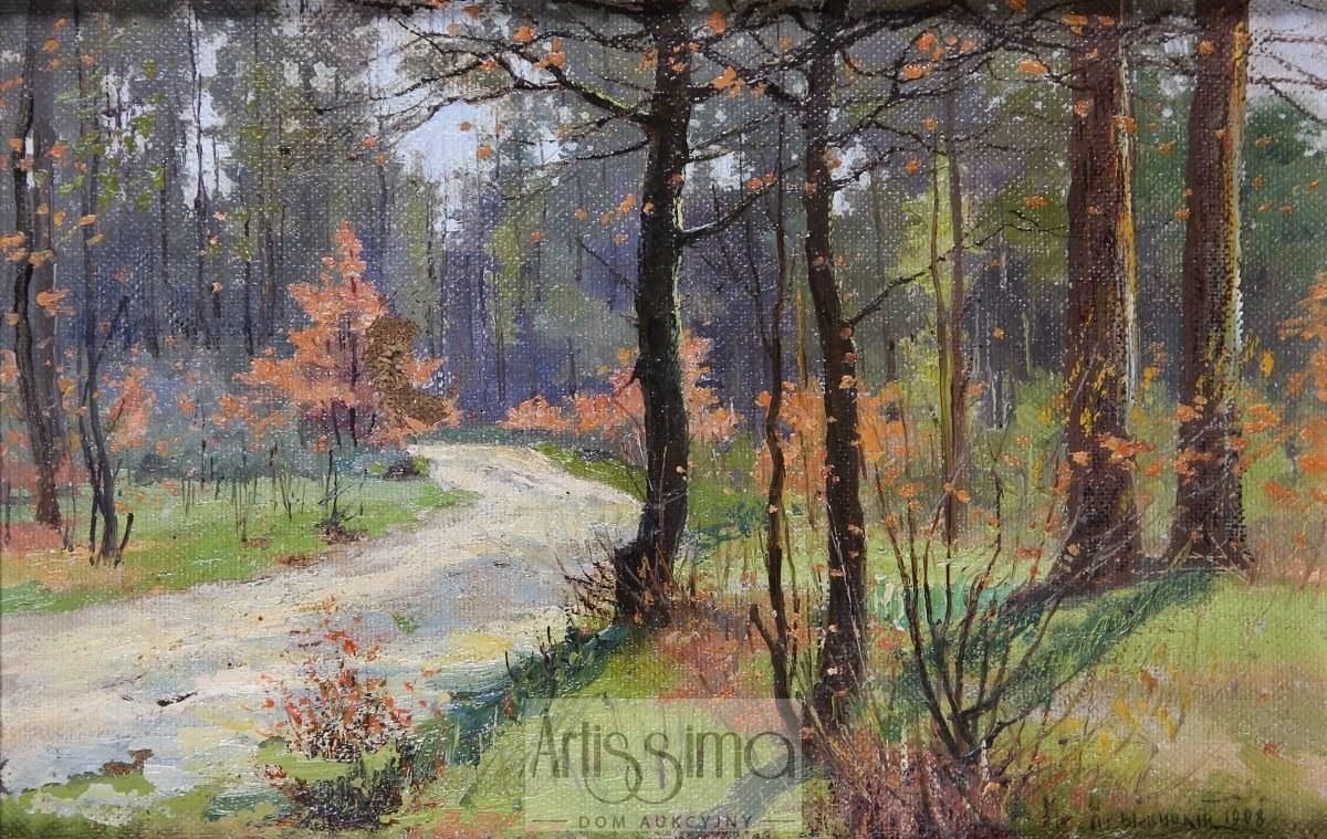 Konstantin Jakowlewicz Kryżyckij (1858 Kijów – 1911 Petersburg), Pejzaż jesienny, 1908