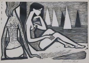 Zdzisław Król (ur. 1921), Na plaży