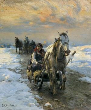 Wierusz-Kowalski Alfred, JAZDA SANIAMI, OK. 1890