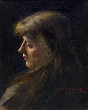 Axentowicz Teodor, PORTRET KOBIETY, 1882