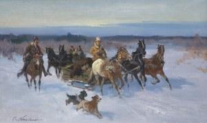 Wasilewski Czesław (I. Zygmuntowicz), POWRÓT Z POLOWANIA Z ŁOSIEM