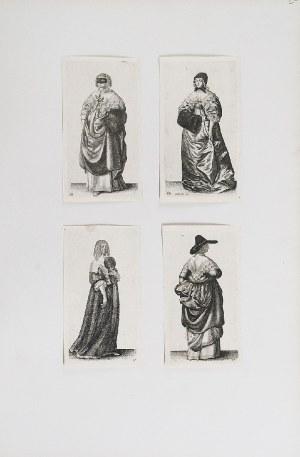 Wenzeslaus HOLLAR (1607-1677), Album z rycinami kostiumów kobiecych: Aula Veneris sive Varietas Foeminini. Ornatus Muliebris Anglicanus.