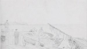 Wilhelm STRYOWSKI (1834-1917), Przy rybackich łodziach