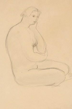 Zygmunt MENKES (1896-1986), Akt siedzącej kobiety
