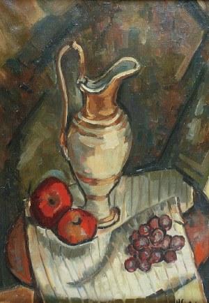 Henryk EPSTEIN (1890-1944), Martwa natura z dzbanem i owocami, ok. 1920