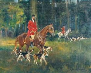 Jerzy KOSSAK (1886-1955), Wyjazd na polowanie, 1927