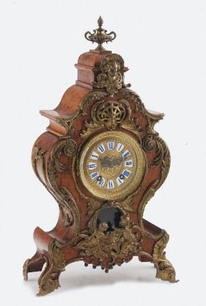 A. G. U. L. - Aktiengesellschaft fur Uhrenfabrikation LENZKIRCH (fabryka czynna od 1851), Zegar konsolowy, neorokokowy