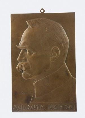 Józef AUMILLER (1992-1963), Plakieta z popiersiem Marszałka Józefa Piłsudskiego