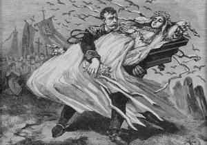 Juliusz KOSSAK (1824-1899), Zamiast wesela Mohorta i Anny – pogrzeb!