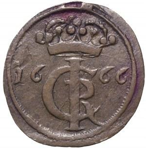 Jan II Kazimierz, Szeląg 1666 Toruń - labry