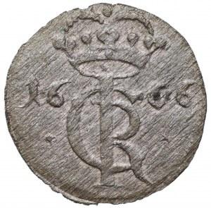 Jan II Kazimierz, Szeląg 1666 Toruń - gwiazdki