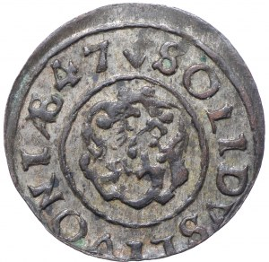 Krystyna Waza, Szeląg 1647 Inflanty