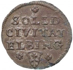 August III Sas, Szeląg 1761 Elbląg - rzadki