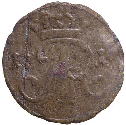August II Sas, Szeląg 1715 Gdańsk - rzadkosć