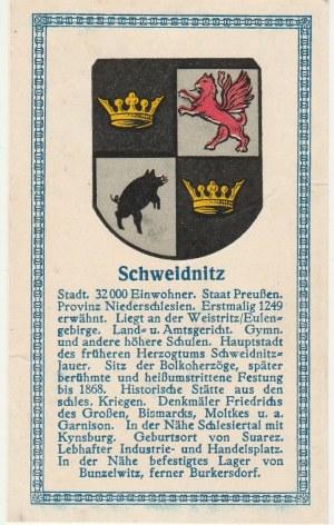 ŚWIDNICA. Herb Świdnicy, poniżej krótki tekst dotyczący miasta; n ...