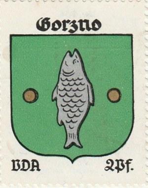 GÓRZNO. Naklejka z herbem Górzna (ryba), seria poświęcona miastom  ...