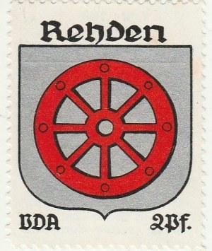 RADZYŃ CHEŁMIŃSKI. Naklejka z herbem Radzynia Chełmińskiego ( ko