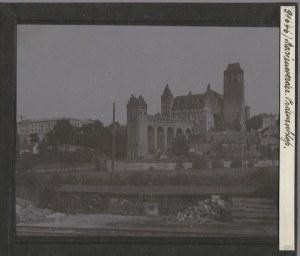 KWIDZYN. Szklany diapozytyw przedstawiający zdjęcie zamku, wykon. pr ...
