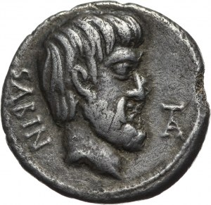 Republika Rzymska, L. Titurius L. f. Sabinus, denar 89 p.n.e., Rzym