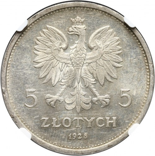 II RP, 5 złotych 1928, Warszawa, Nike
