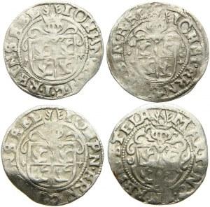 Niemcy, Regenstein, 1/24 talara (grosz) 1597-1599, lot 4 sztuk