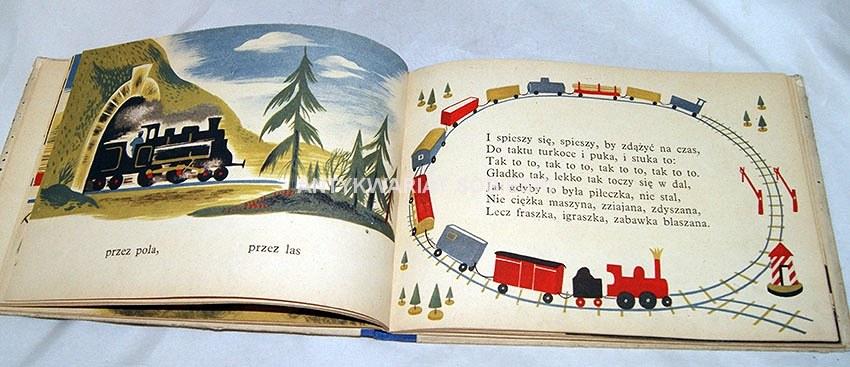 Tuwim Lokomotywa I Inne Wiersze 1953r Ilustr Szancer