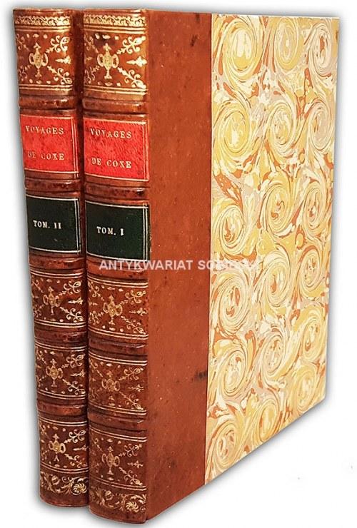 COXE- VOYAGE EN POLOGNE, RUSSIE, SUEDE, DANNEMARC, etc. t.1-2 [komplet w 2 wol.] wyd. 1786