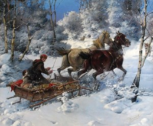 Jan KONARSKI (1850-1918), Wilki tuż, tuż
