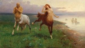 Zygmunt AJDUKIEWICZ (1861-1917), Scena mitologiczna - Pląsy centaurów
