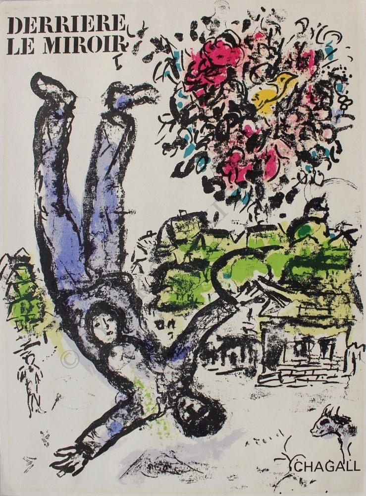 """Marc Chagall (1887-1985), Bukiet artysty (""""Derriere le Miroir"""" no 147, 1964, Mourlot #410)"""