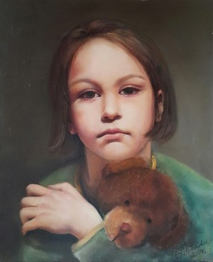 Patrycja Kruszyńska-Mikulska, Girl with a Teddy Bear, 2013